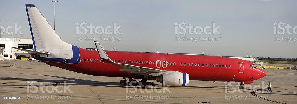 Jet airplane royaltyfri bildbanksbilder