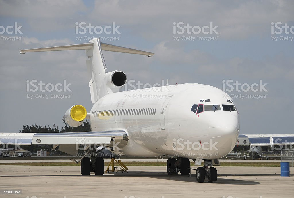 Jet airplane royalty-free stock photo