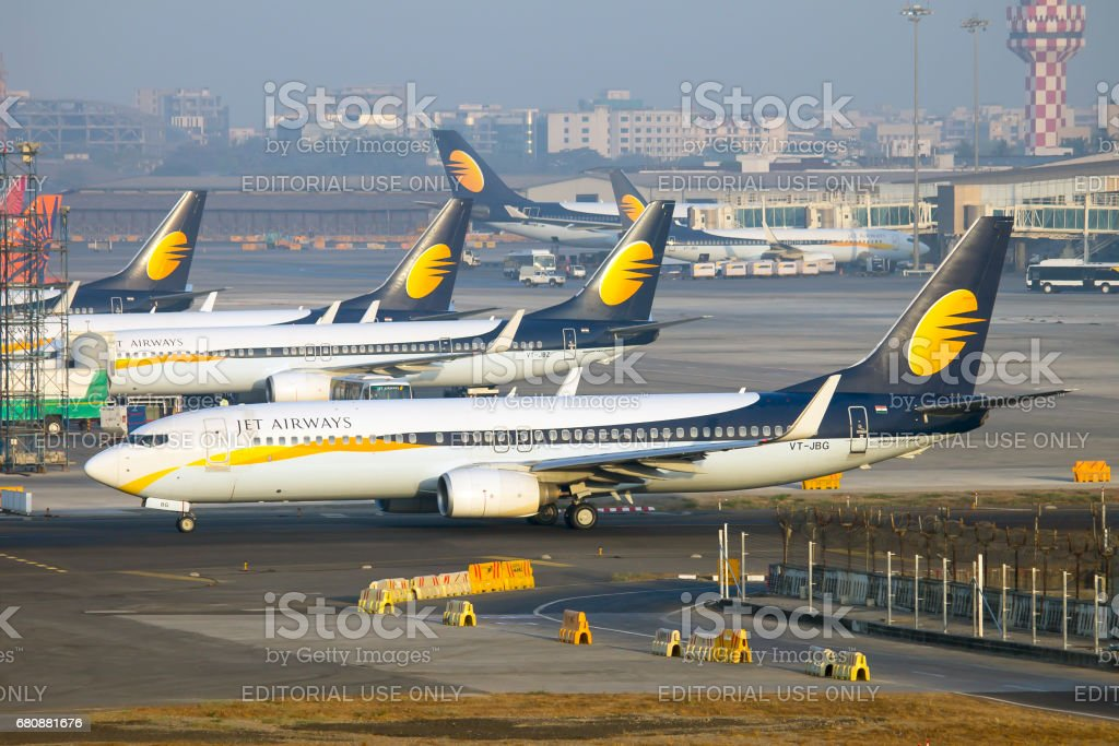 Jet Airways is the second largest airline in India with a market share of 21.2% Founded by Naresh Goyal in 1993, Jet Airways celebrated its 24th Anniversary on 5th May 2017. It has a mix fleet of Boeing 737, Boeing 777, Airbus A330 and ATR 72. The primary hub of the airline is Mumbai. Aerospace Industry Stock Photo