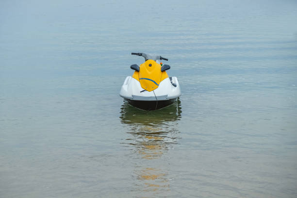 Jet boat sea sport stock photo