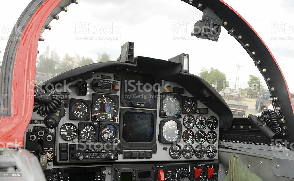 Jet cockpit royalty-free stock photo