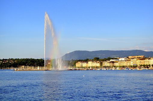 Jet D Eau Water Fountain Geneva