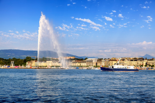 Jet d'eau fountain in Geneva