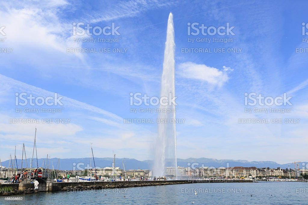 Jet d'Eau fountain royalty-free stock photo