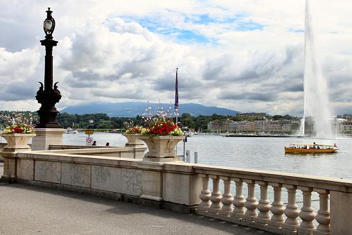 Jet d'Eau on Lake Geneva,