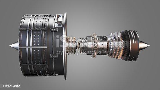 3d render of a generic looking jet turbine