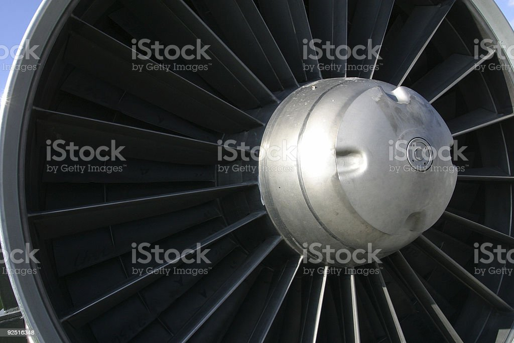 Jet Engine Fins royalty-free stock photo