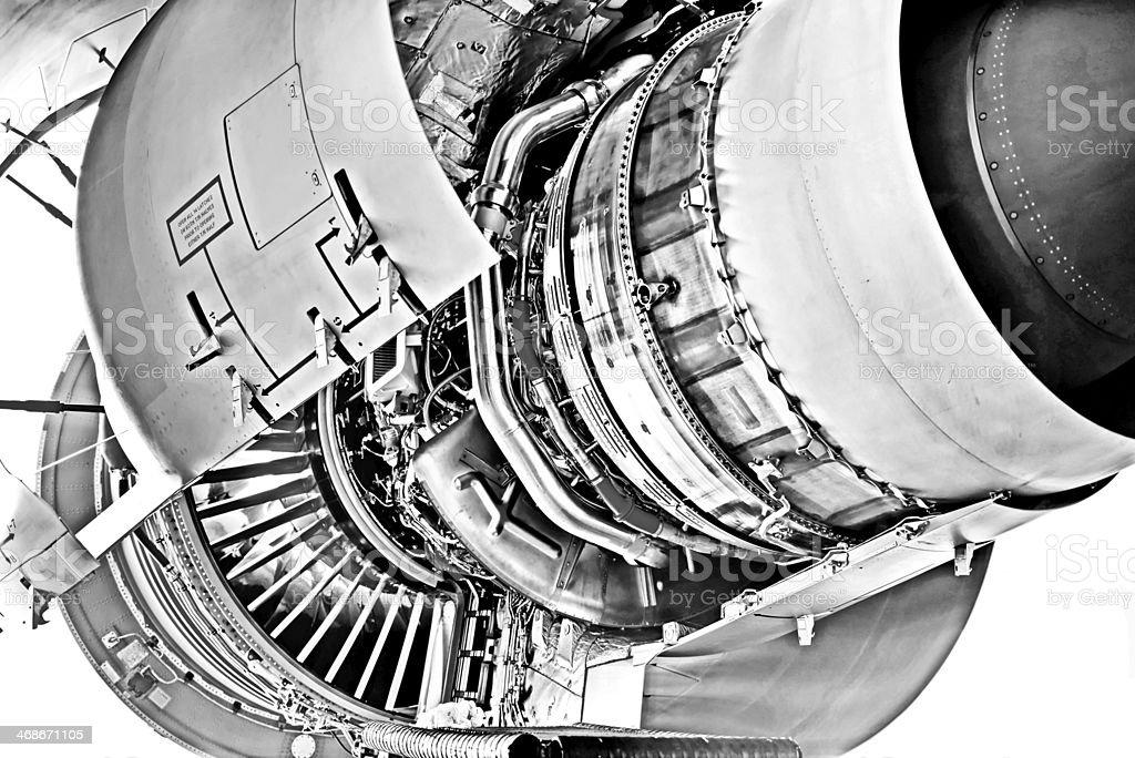 Jet engine open stock photo