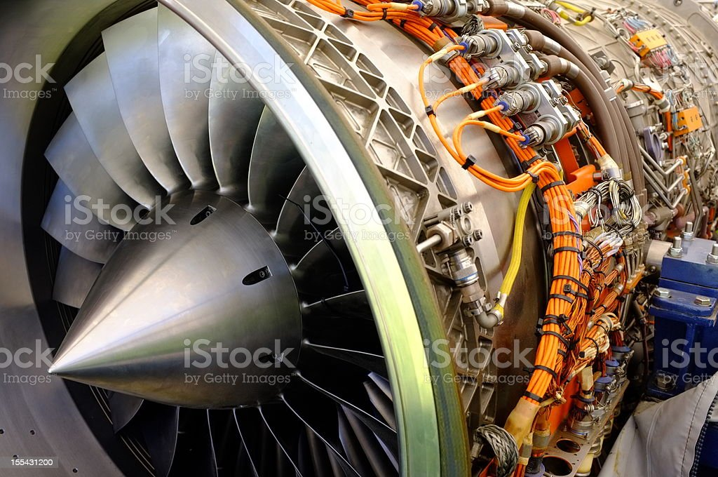 Jet engine. stock photo