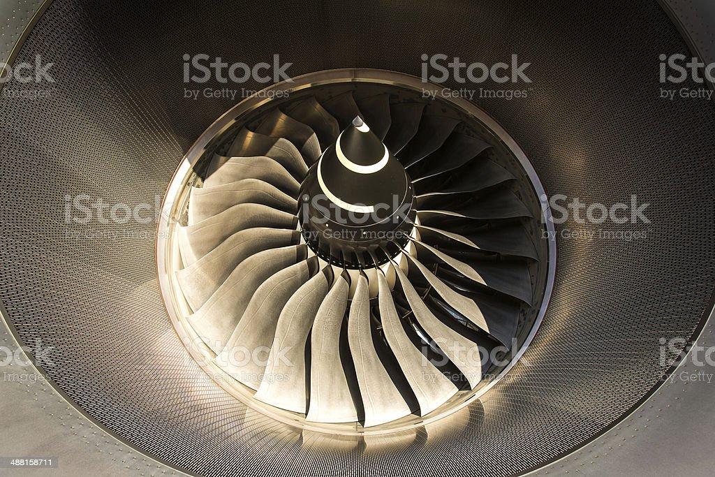 A380 Jet engine stock photo