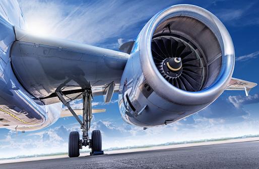 jet engine of an aircraft