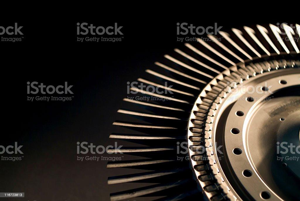 Jet engine turbine wheel royalty-free stock photo