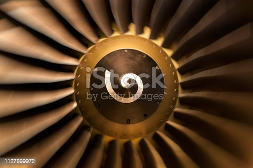 884224094 istock photo Jet engine turbo blades 1127699972