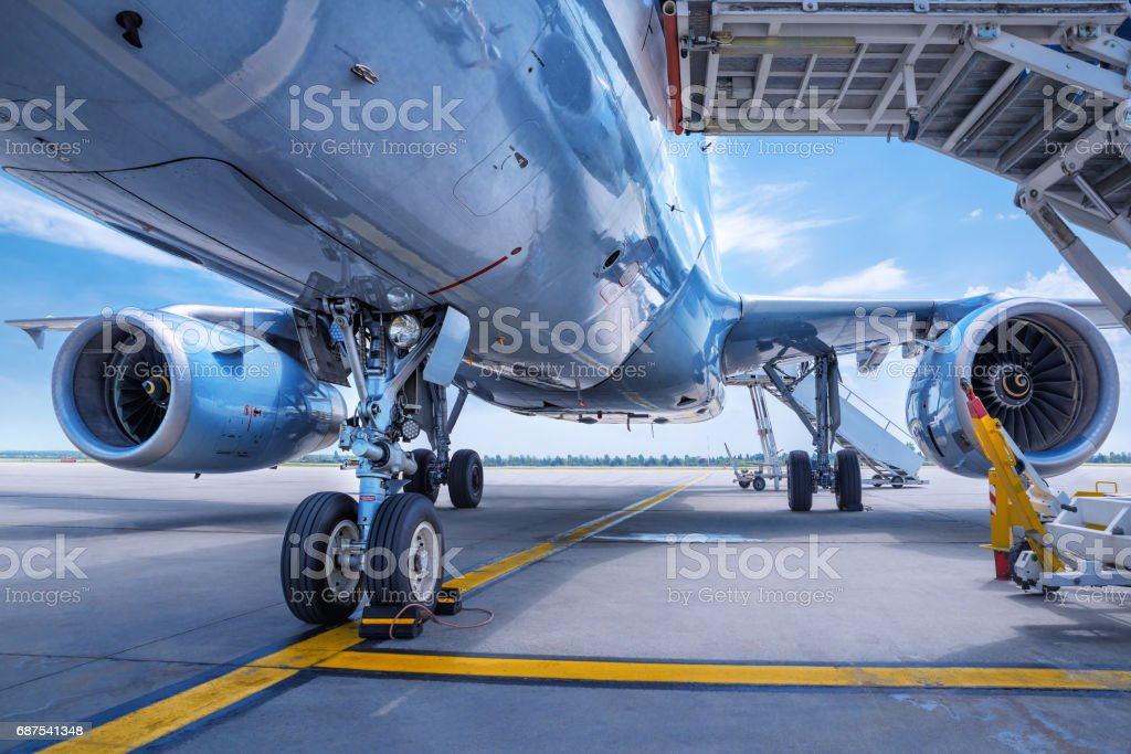 jet engines - foto stock