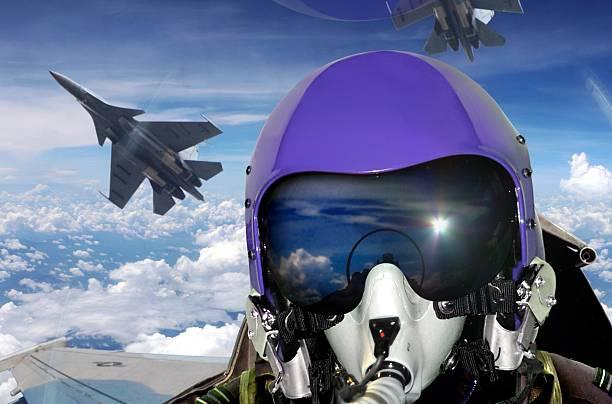 Jet fighter pilot cockpit view Jet fighter pilot cockpit view pilot stock pictures, royalty-free photos & images