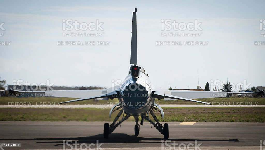 Jet Fighter preparing for take-off royalty-free stock photo