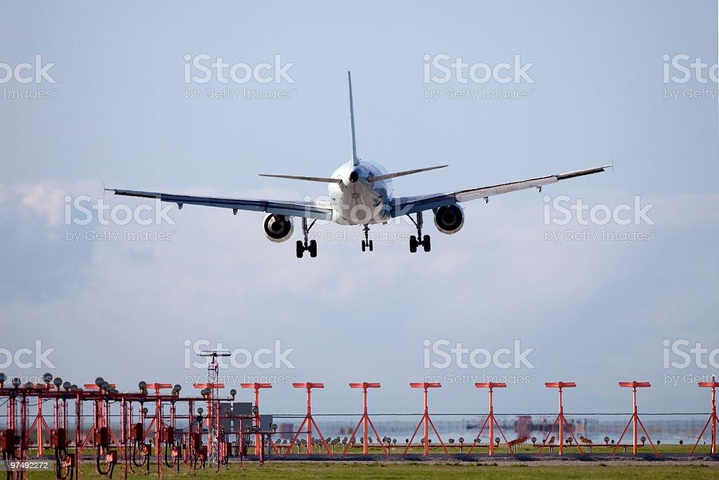 Jet Flying royalty-free stock photo