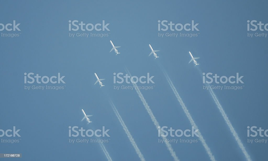 jet formation flying stock photo