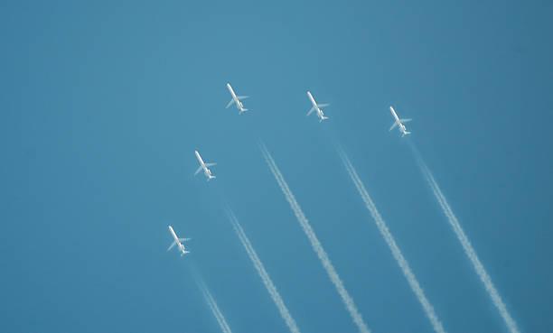 jet Formazione di volo - foto stock