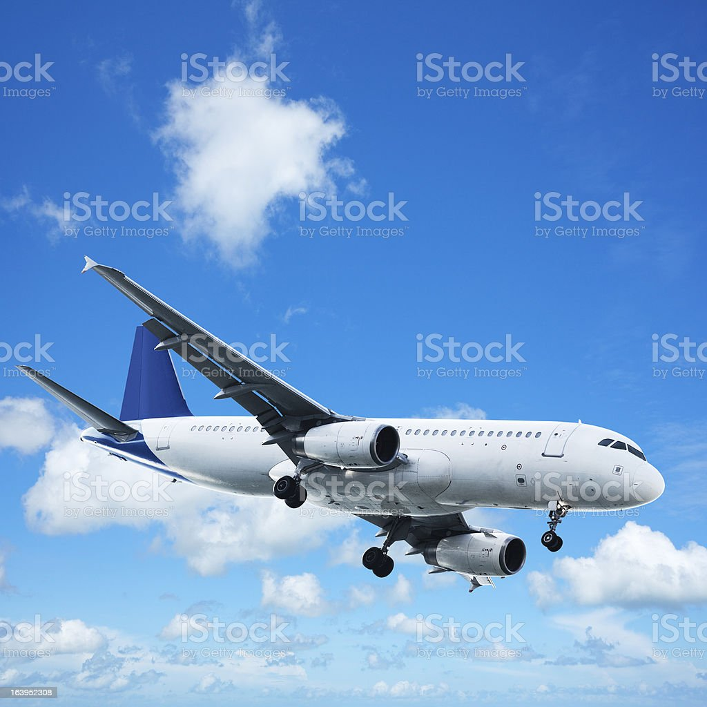 Jet in a sky royalty-free stock photo