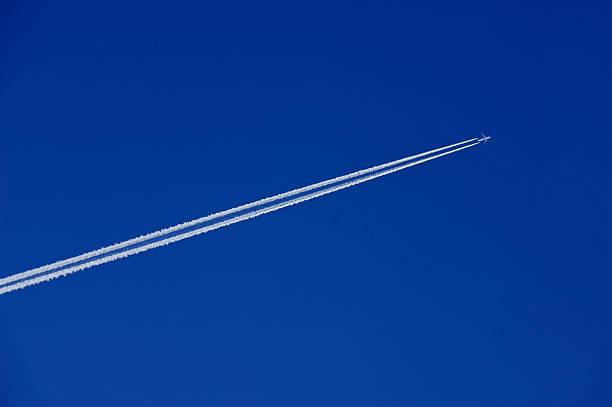 jet in the sky stock photo
