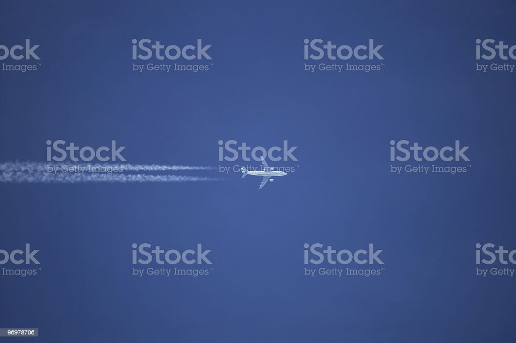 Jet in the sky royalty-free stock photo