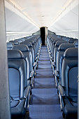 Seating inside of a retired Concorde supersonic jet