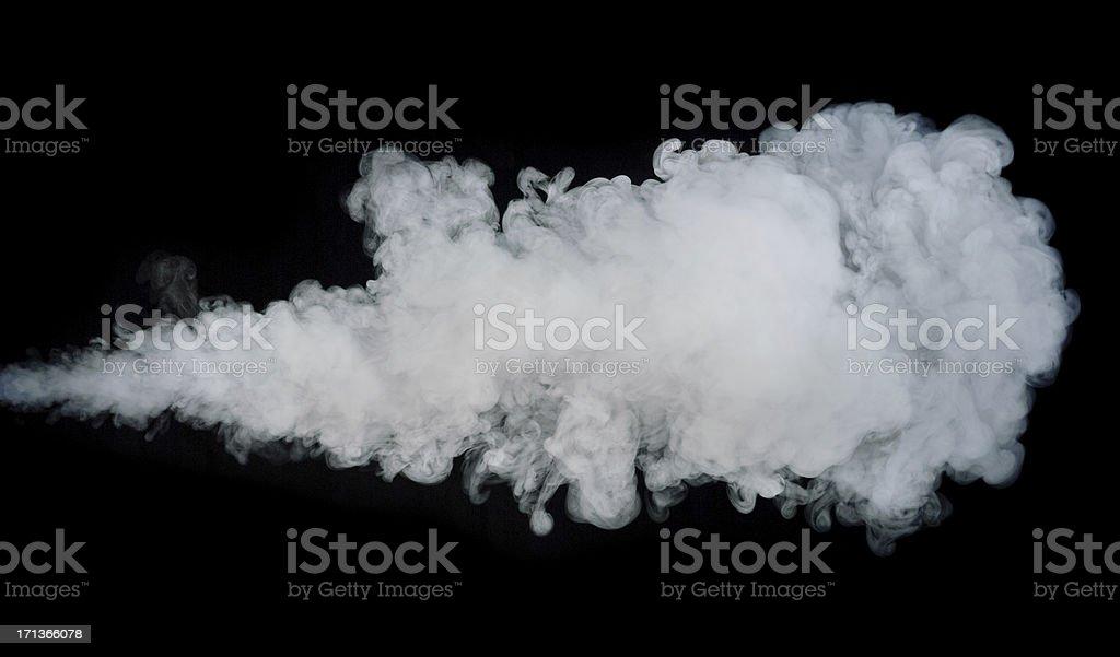 Jet of Smoke Isolated on Black royalty-free stock photo