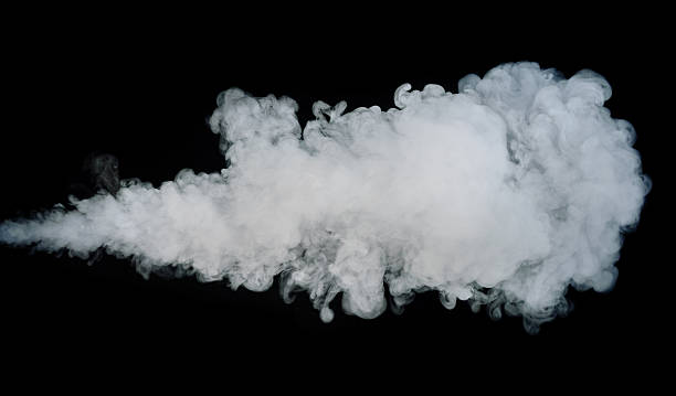 Jet of Smoke Isolated on Black stock photo