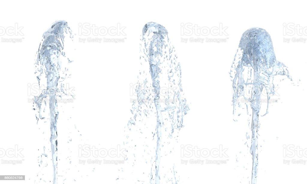 Beyaz yukarı akışta su jeti arka plan 3d - Royalty-free Adamlar Stok görsel