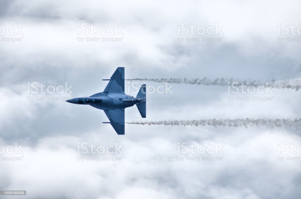 Jet on the air stock photo