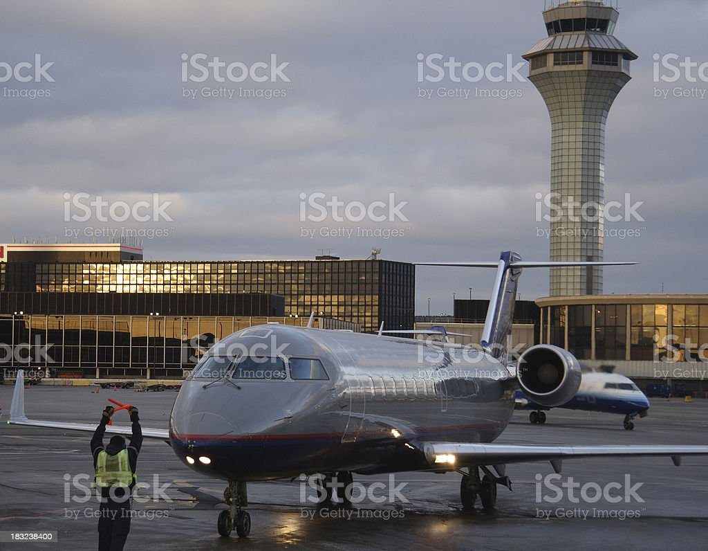 jet parking stock photo