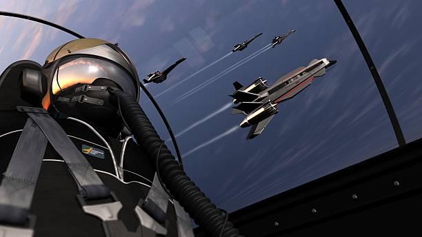 Flug mit jet pilot squadron – Foto