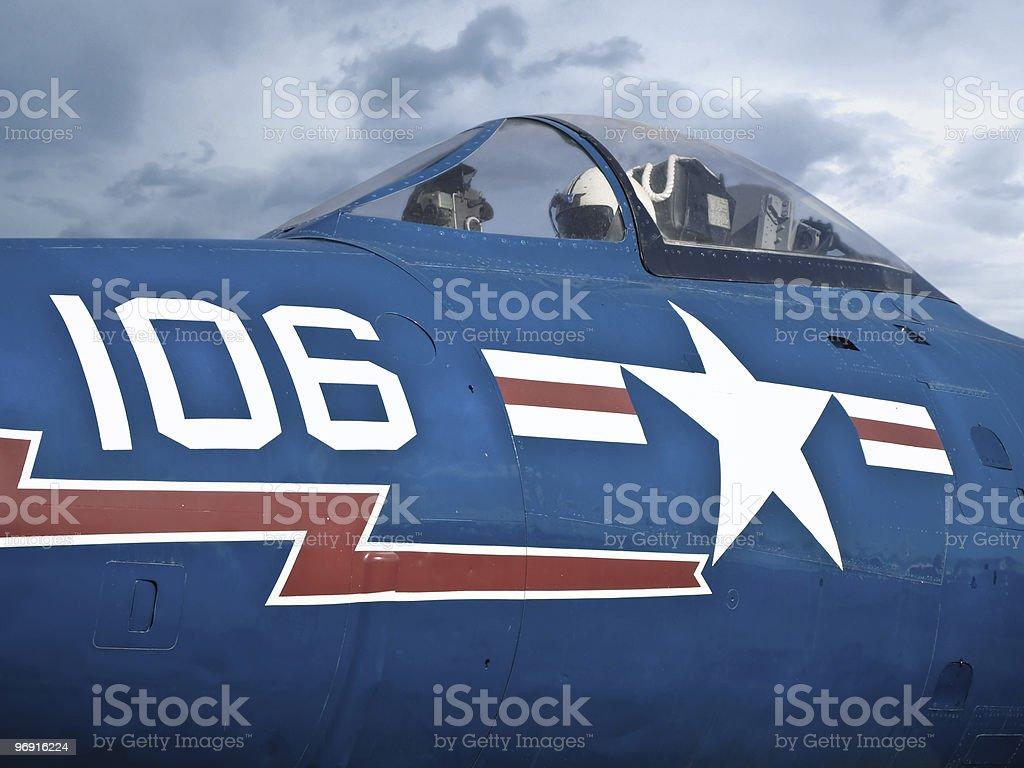 jet pilot in cockpit royalty-free stock photo