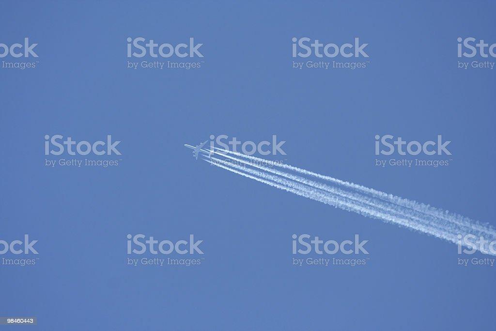 Jet plane exhaust royalty-free stock photo