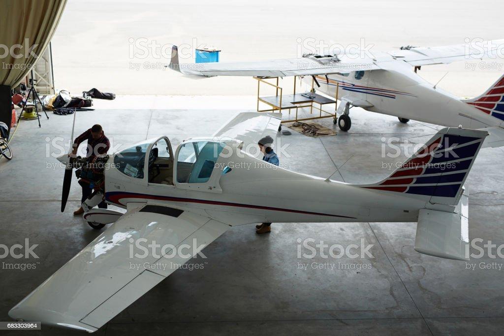Jet Planes Maintenance zbiór zdjęć royalty-free