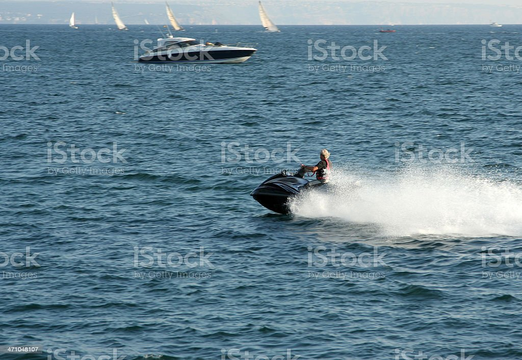 Jet ski driver royalty-free stock photo