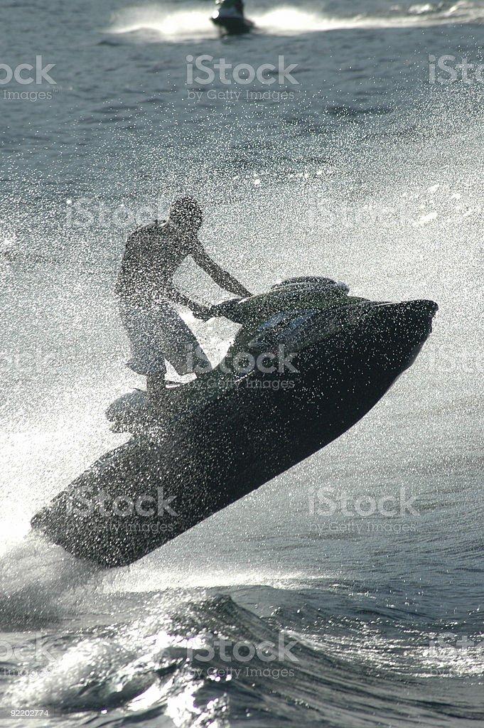 Jet Ski in Lake Chelan royalty-free stock photo
