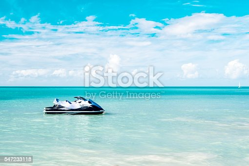 istock Jet Ski Moored in the Caribbean Sea 547233118