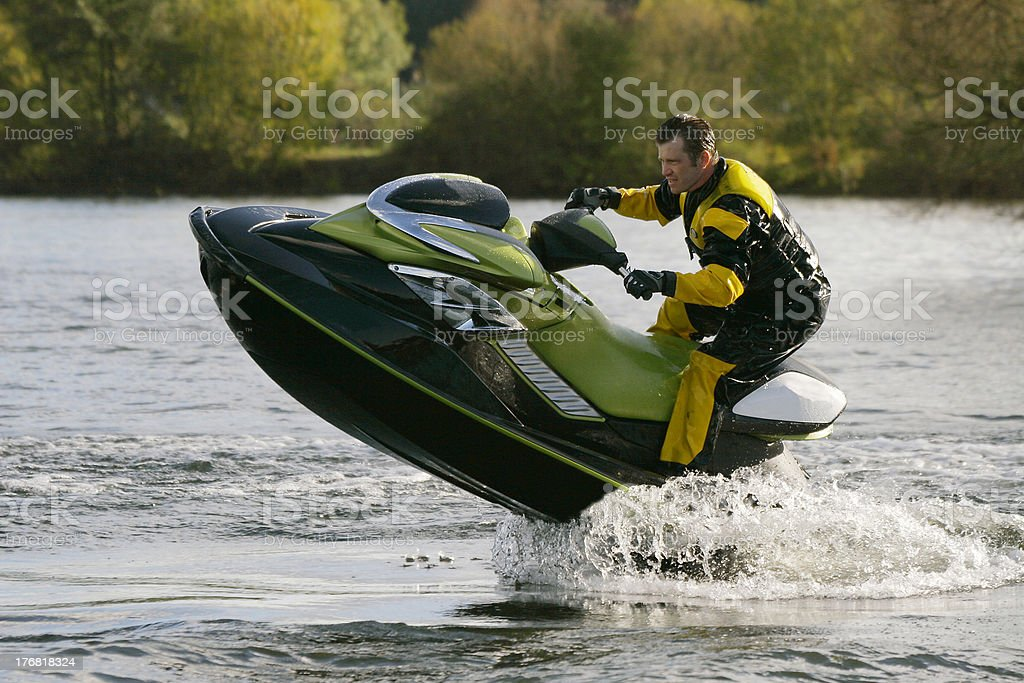 Jet Ski Wet Bike Leaping Out Of The Water Stock Photo Istock