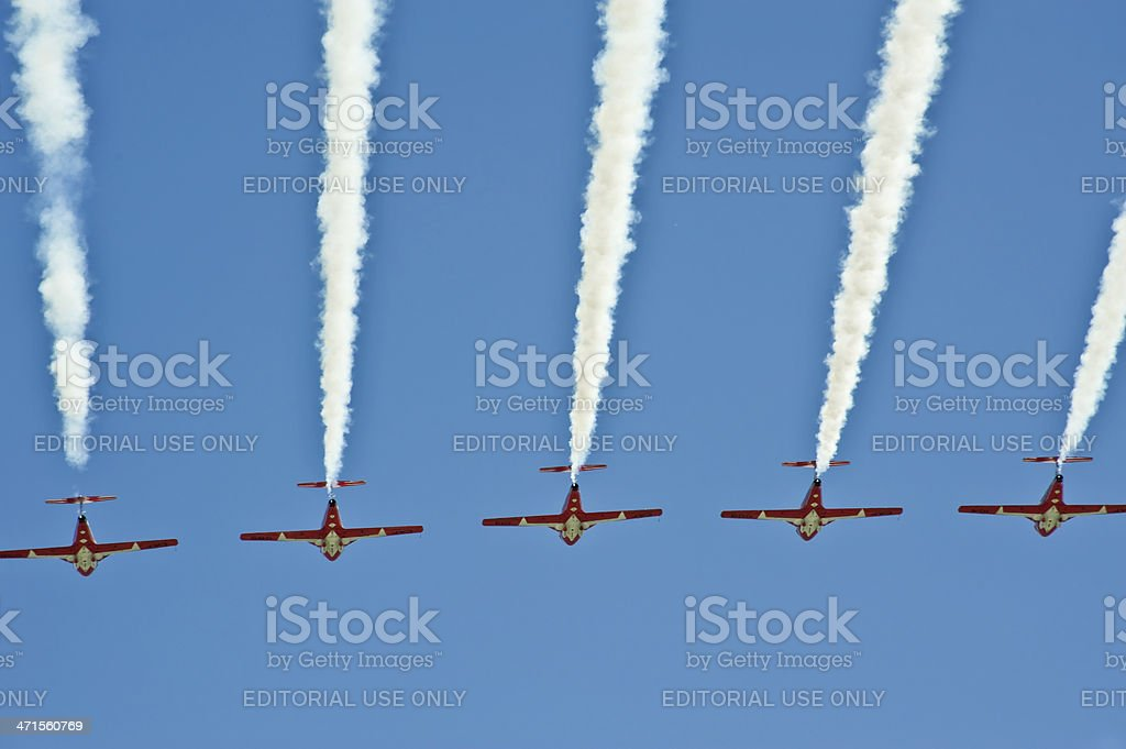 Jet Trails royalty-free stock photo