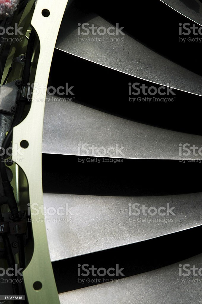 Jet Turbine Blade royalty-free stock photo