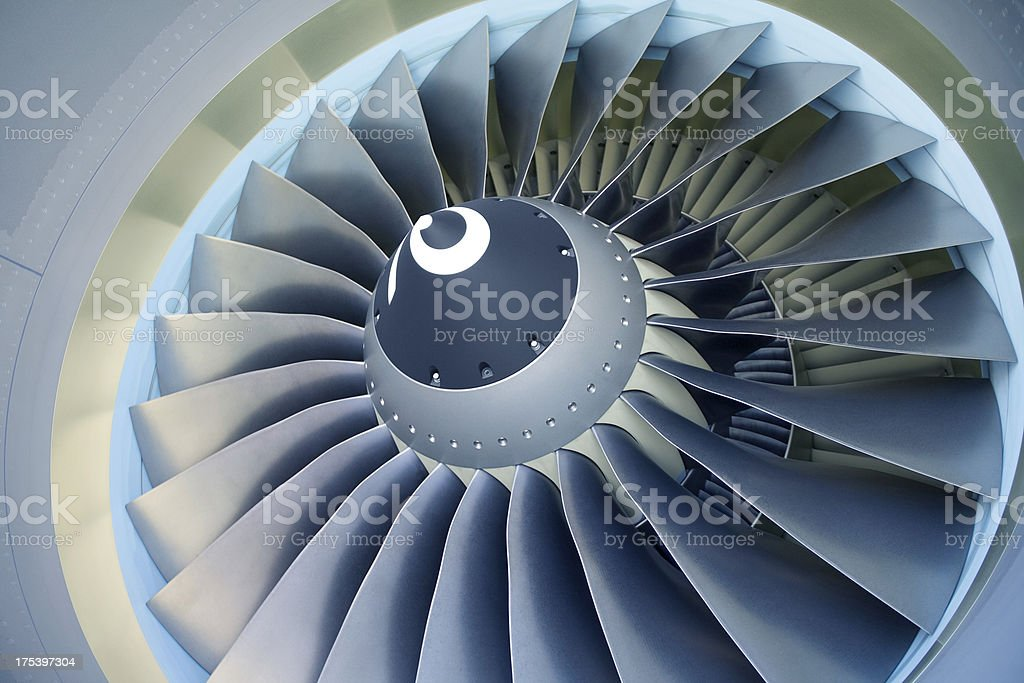 Jet Turbine - Boeing 737-800 stock photo