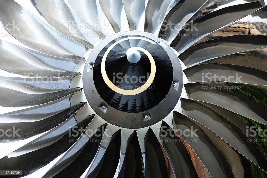 Jet Turbine stock photo