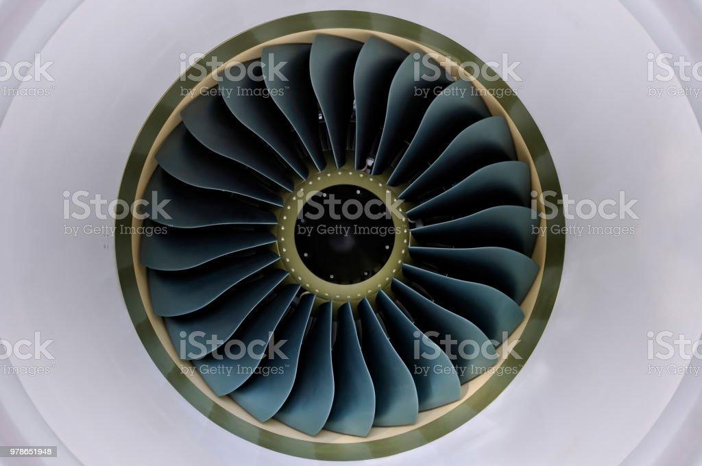 Jet turbine stock photo