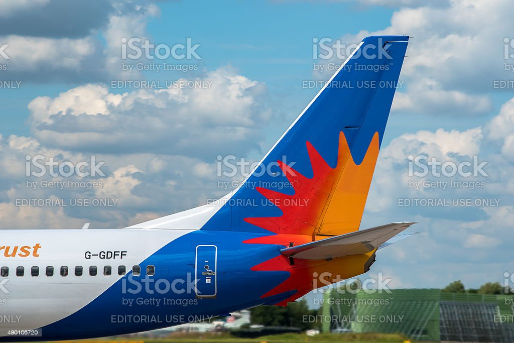 Jet2 Airlines Boeing 737 tail stock photo
