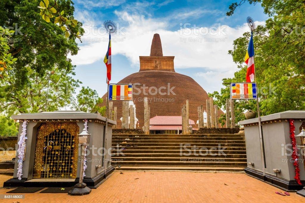 Jetavanarama Dagoba, the biggest stupa in Anuradhapura, Sri Lanka. stock photo