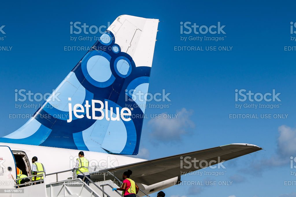 jetBlue plane stock photo