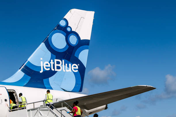 jetBlue plane stock photo