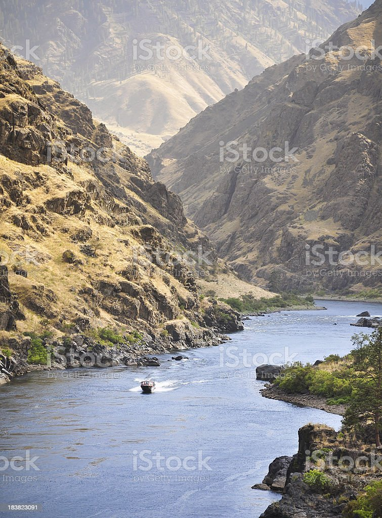 Jetboat in Hells Canyon stock photo